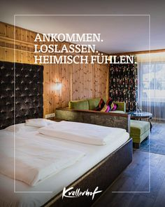 Erleben Sie den perfekten Wellnessaufenthalt im Salzburger Land. Zeit zu Zweit in Leogang. Divider, Bed, Room, Furniture, Home Decor, Bedroom, Decoration Home, Stream Bed, Room Decor