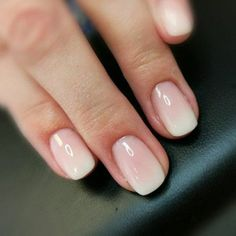 Babyboomer nails look like well-groomed natural nails - . - Baby boomer nails look like well-groomed natural nails – # maintained - French Fade Nails, Faded Nails, Neutral Nails, Neutral Wedding Nails, Ombre French Nails, Short French Tip Nails, French Manicures, How To Do Nails, Fun Nails