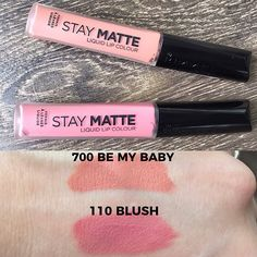 Ok I think I might be in love with these new @rimmellondonus Stay Matte liquid lipsticks. The formula is more mousse than liquid, dries down and doesn't transfer, and doesn't feel like I have anything on my lips at all. I haven't heard anyone talking about these formulas yet at all, but I fully expect these will blow up social media here soon. I found mine online @ultabeauty. Will be ordering more colors very soon! 💄💋💄💋💄💋💄💋 #rimmel #staymatte #staymatteliquidlipstick #drugstoremakeup…