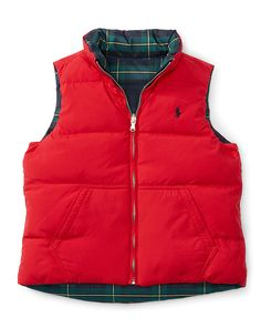 Reversible Down Vest - Girls 2-6X Outerwear - RalphLauren.com