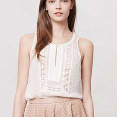 Size small meadow rue sleeveless top Intricately detailed and sheer, this is the perfect summer top! Anthropologie Tops Tank Tops