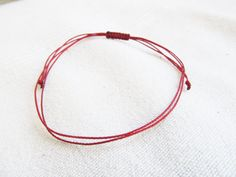 Men's Red String Bracelet Red Thread Kabbalah by LittleString