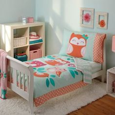 Carter's® Too Cute to Hoot 4-Piece Toddler Bedding - BedBathandBeyond.com
