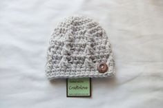 Natural Oatmeal Button Baby Boy Beanie  Baby Boy by craftolove, $19.99