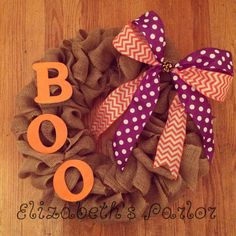 Not-so-scary Halloween decor! Cute and classy, this Halloween themed wreath will welcome all sorts of superheroes and princesses to your door