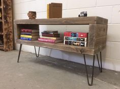 Reclaimed Wood TV Stand And Bookshelf | DIY And Crafts