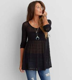 AEO Feather Light Babydoll Sweater