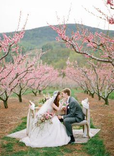 cute couple in the blooms, Photos by Jen Fariello, Flowers by : Southern blooms