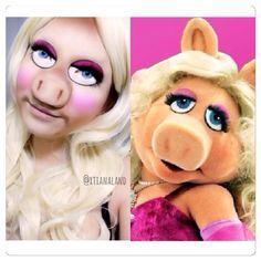 Cool miss piggy makeup