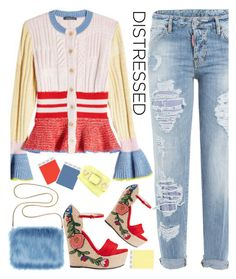 Distressed Denim by sweet-designs on Polyvore featuring polyvore fashion style Alexander McQueen Dsquared2 Gucci Balenciaga clothing