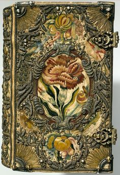antique book covers Gorgeous embroidered cover