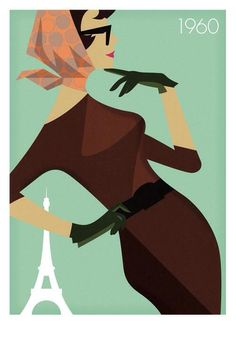 Travel poster fro Air France 1960