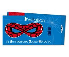 Carte d 39 invitation gratuite t l charger et imprimer invitation anniversaire remerciement - Carte anniversaire super heros ...