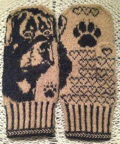Ravelry: Rottweiler Mittens pattern by Connie H Design