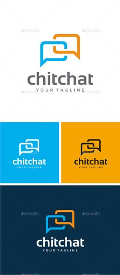 Chat - Logo Design Template Vector #logotype Download it here: http://graphicriver.net/item/chat-logo/8303357?s_rank=916?ref=nexion