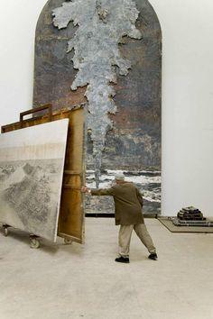 Anselm Kiefer in studio Anselm Kiefer, Georges Mathieu, Jean Pierre Leaud, Musée Rodin, Van Gogh Art, Art Antique, Picasso Paintings, Contemporary Photographers, Claude Monet