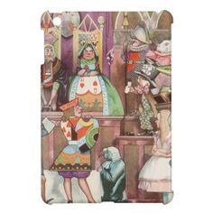 不思議の国のアリス & ハートの女王モチーフの iPad mini カバー。みんなに羨ましがられること間違いなし? #zazzle #iPad ケース #不思議の国のアリス