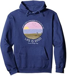 Amazon.com: Life Is Really Good Summer Beach Vacation Graphic Pullover Hoodie : Clothing, Shoes & Jewelry