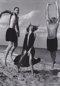 nice Timeless | Angela Lindvall e Frankie Rayder para Vogue US Maio 2000 por Bruce Weber