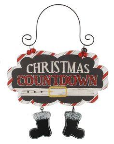 Christmas Countdown Santa Feet Sign (Set of 4)