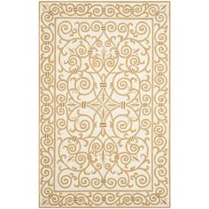 Found it at Joss & Main - Chloe Ivory & Gold Area Rug