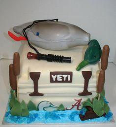 Mallard duck decoy fishing duck call cake