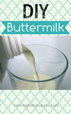 DIY Buttermilk- I needed buttermilk for the pancakes that I was making and found this pin. Work out for me.