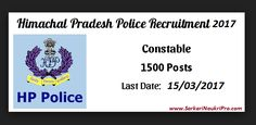 HP Police Constable Recruitment 2017 Check Notification, Application, Exam Date