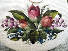 Vintage Needlepoint Handbag/Purse by by oldsilkroute on Etsy