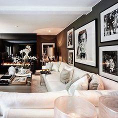 My style @erickuster mooie bank, zwart wit foto's mooie grote orchideeën in een pot