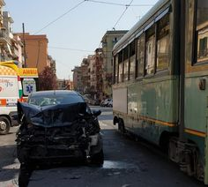 Scontro tra auto e tram a Centocelle Street View, Vehicles, Car, Rome, Automobile, Autos, Cars, Vehicle, Tools