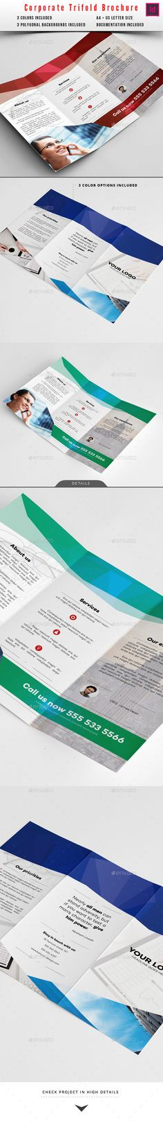 Corporate Trifold Brochure Template | Buy and Download: http://graphicriver.net/item/corporate-trifold-brochure/10124544?ref=ksioks