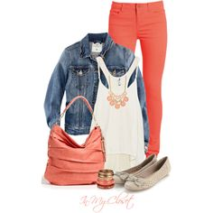 A fashion look featuring H&M jackets, Pieces leggings and Accessorize flats. Browse and shop related looks.
