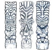 Doing A Tiki Tattoo Design Here S The First Rough  Learn how to make $500 to $3000 dailly! Click here:  http:// | tattoos picture tiki tattoo
