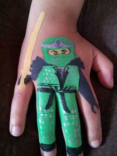 Ninjago body paint. www.Facebook.com/SnazyFacePainting