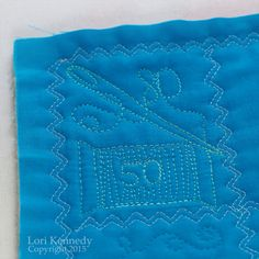 Needle, Free Motion Quilting.  Great way to have fun with needle sizes.