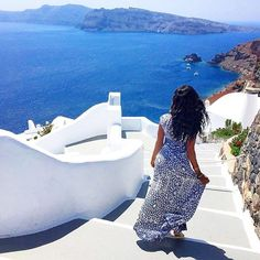 Onward. @yayazoe // Santorini Greece. #travelnoire #santorini