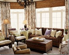 How to hang curtains and blinds  http://cotedetexas.blogspot.com/2009/08/top-ten-design-elements-4.html