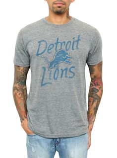 Junk Food Clothing  NEW NFL Collection  NFL Detroit Lions Vintage Inspired Gameday Triblend  $38  www.junkfoodclothing.com