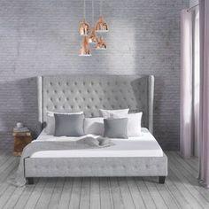 Romantisches Bett In Grau   Märchenhafter Schlafgenuss Für Ihr Zuhause  Boxspringbett Grau, Beste Matratze,