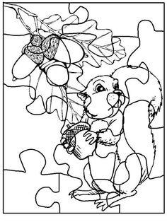 Actividades para niños preescolar, primaria e inicial. Plantillas con puzzles recortables para imprimir para niños de preescolar y primaria. Puzzles recortables. 9