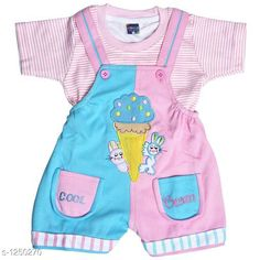 Checkout this latest Clothing Set Product Name: *Elegant Printed Kid's Clothing Set* Top Fabric: Hosiery Cotton Bottom Fabric: Hosiery Cotton Sleeve Length: Short Sleeves Top Pattern: Striped Bottom Pattern: Applique Multipack: Single Sizes: 0-6 Months, 6-12 Months, 12-18 Months, 18-24 Months Country of Origin: India Easy Returns Available In Case Of Any Issue   Catalog Rating: ★4.3 (11596)  Catalog Name: Cute Elegant Printed Kids Clothing Sets Vol 4 CatalogID_158187 C62-SC1152 Code: 143-1250270-528