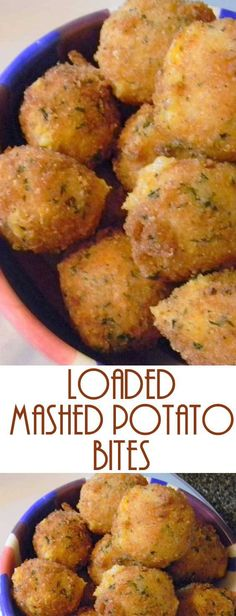 Have left over mashed potatoes? Make these yummy Loaded Mashed Potato Bites. The… Have left over mashed potatoes? Make these yummy Loaded Mashed Potato Bites. These are everything you love about a loaded baked potato! Healthy Recipes, Vegetable Recipes, Cooking Recipes, Chicken Recipes, Beef Recipes, Skillet Recipes, Healthy Food, Vegan Food, Vegetarian Finger Food