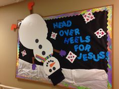 Winter Sunday school bulletin board