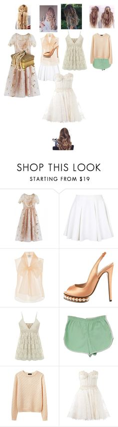 """""""Roses- and we're wilting like the roses next to us"""" by aurorazoejadefleurbiancasarah ❤ liked on Polyvore featuring Topshop, Lanvin, Nicholas Kirkwood, A.P.C., Zuhair Murad and Perfection Beauty"""