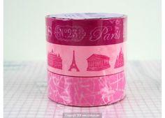 Paris Coup de Coeur Japanese Washi Tape PINK - Japanese Washi Tape