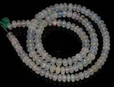 #1727 Natural Ethiopian Welo Opal Gemstone Rondelle Plain Beads 60 Ct. Strand