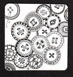 button zentangles by jennie