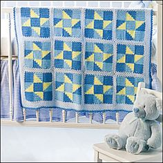 Wish upon a star crochet quilt free crochet afghan pattern