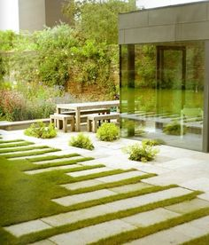 paving-a very interesting and unusual way to grow your grass..